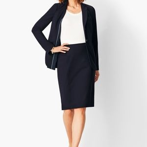 NWT Talbots navy pencil skirt 22WP